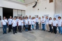 Η Πρέσβυς Καλής Θελήσεως της UNESCO, κυρία Μαριάννα Β. Βαρδινογιάννη, ο Πρόεδρος της ΚΕΔΕ κύριος Γιώργος Πατούλης, ο Διοικητής του Νοσοκομείου Παίδων «Η Αγία Σοφία» κύριος Εμμανουήλ Παπασάββας, ο Διευθυντής του Φιλανθρωπικού Οργανισμού «ΑΠΟΣΤΟΛΗ» κύριος Κωνσταντίνος Δήμτσας, γιατροί και νοσηλευτές του Νοσοκομείου Παίδων «Η Αγία Σοφία» και εθελόντριες από τον Φιλανθρωπικό Οργανισμό «ΑΠΟΣΤΟΛΗ»