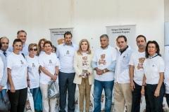 Η Πρέσβυς Καλής Θελήσεως της UNESCO, κυρία Μαριάννα Β. Βαρδινογιάννη, ο Πρόεδρος της ΚΕΔΕ κύριος Γιώργος Πατούλης, ο Διοικητής του Νοσοκομείου Παίδων «Η Αγία Σοφία» κύριος Εμμανουήλ Παπασάββας, ο Διευθυντής του Φιλανθρωπικού Οργανισμού «ΑΠΟΣΤΟΛΗ» κύριος Κωνσταντίνος Δήμτσας, ο Δήμαρχος Γαλατσίου, κύριος Γιώργος Μαρκόπουλος, γιατροί και νοσηλευτές του Νοσοκομείου Παίδων «Η Αγία Σοφία» και εθελόντριες από τον Φιλανθρωπικό Οργανισμό «ΑΠΟΣΤΟΛΗ»