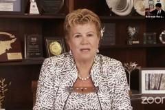 Η Πρώτη Κυρία της Κύπρου κυρία Άντρη Αναστασιάδη στο βιντεοσκοπημένο μήνυμα της