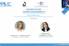 Η Μαριάννα Β. Βαρδινογιάννη διαβάζει το μήνυμα της Αντιπροέδρου του Αζερμπαϊτζάν κυρίας Mehriban Aliyeva