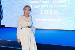 Η Πρόεδρος της τιμητικής κοσμητείας του Επετειακού Έτους ''Θερμοπύλες – Σαλαμίνα 2020'' κυρία Μαριάννα Β. Βαρδινογιάννη
