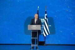Ο Υπουργός Εσωτερικών Παναγιώτης Θεοδωρικάκος κατά τη διάρκεια της ομιλίας του