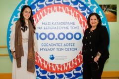 H Δόμνα Μιχαηλίδου με τη ΓΓ του Συλλόγου ΟΡΑΜΑ ΕΛΠΙΔΑΣ Ινώ Κωνσταντοπούλου