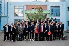 Σύσσωμη η ομάδα του Ολυμπιακού με την Μαριάννα Β. Βαρδινογιάννη στην Ογκολογική Μονάδα Παίδων