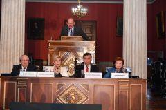 Στιγμιότυπο από την ομιλία του Κωνσταντίνου Μπουραζέλη