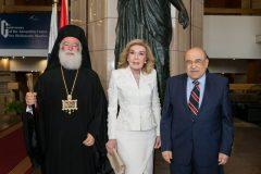 Μακαριώτατος Πατριάρχης Αλεξάνδρειας και Πάσης Αφρικής κ. Θεόδωρος Β,  Μαριάννα Β. Βαρδινογιάννη, Mostafa El Feki , Οκτώβριος 2019