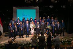 Η Μαριάννα Β. Βαρδινογιάννη με σπουδαστές του Κέντρου Ελληνιστικών Σπουδών , Οκτώβριος 2019