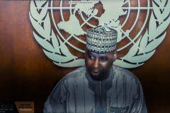 Ο Πρόεδρος της ΓΣ του ΟΗΕ Tijjani Muhammad-Bande