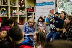 Η Μαριάννα Β. Βαρδινογιάννη πάντα στο πλευρό των παιδιών