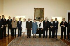Τα μέλη του ΔΣ του Nizami Ganjavi International Center με τον Πρόεδρο της Δημοκρατίας