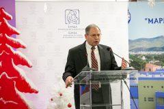 Ο Καθηγητής David Small κατά τη διάρκεια της ομιλίας του