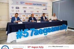(από αριστερά προς τα δεξιά) Δήμαρχος Σαλαμίνας Γιώργος Παναγόπουλος, Πρόεδρος ΠΟΙΑΘ Ιωάννης Μαραγκουδάκης, υφυπουργός Αθλητισμού Λευτέρης Αυγενάκης, Πλοίαρχος Αναστάσιος Μιχελής, εκπρόσωπος ΓΕΝ )