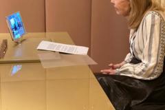 Ο Μητροπολίτης Συμεών συνομιλεί μέσω skype με την Μαριάννα Β. Βαρδινογιάννη